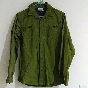 Columbia Olive Green Button down